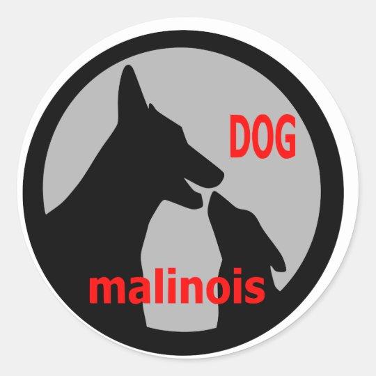Sticker Rond logodogmalinois1