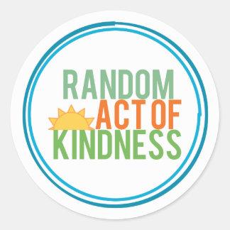 Sticker Rond Loi aléatoire de la gentillesse