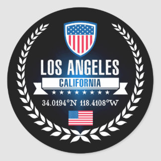 Sticker Rond Los Angeles