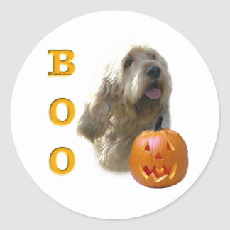 Sticker Rond L'Otterhound Halloween HUENT