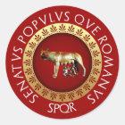 Sticker Rond Loup de Capitoline