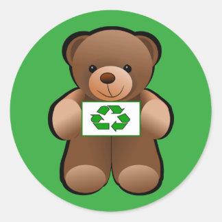 Sticker Rond L'ours de nounours réutilisent la conception de