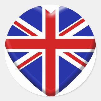 Sticker Rond love drapeau Royaume-uni Angleterre