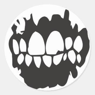 Sticker Rond LOWLIFE - Klistermärke