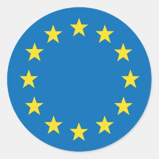 Sticker Rond L'UE d'Union européenne diminuent