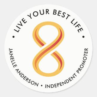 Sticker Rond Lumière de nutrition d'Innov8tive