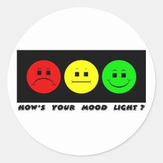 Sticker Rond Lumière déprimée horizontale d'humeur de feu