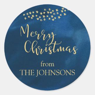 Sticker Rond Lumière d'or de Noël