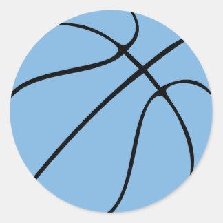 Sticker Rond Lumière/partie ou album bleue basket-ball de la