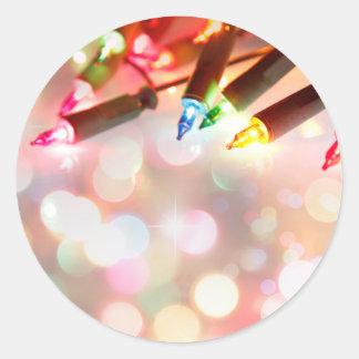 Sticker Rond Lumières colorées multi de scintillement