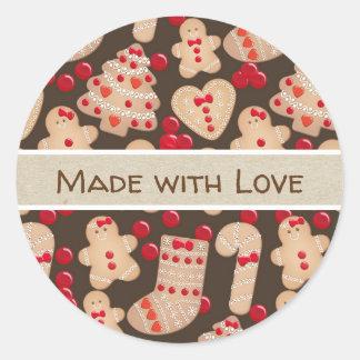Sticker Rond Lunatique rustique de biscuits cuit au four par