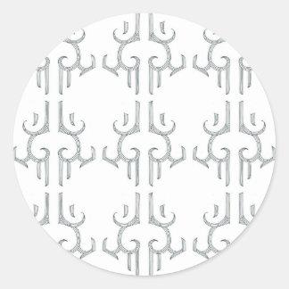 """Sticker Rond Lustre rond blanc FOU 3"""" d'autocollant de KAUAE"""