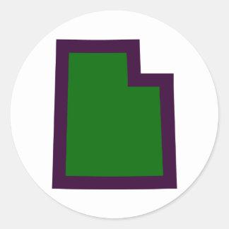 Sticker Rond L'Utah (G&P)