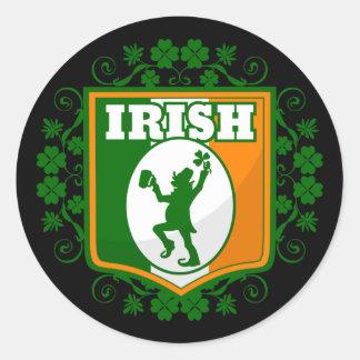 Sticker Rond Lutin du jour de St Patrick