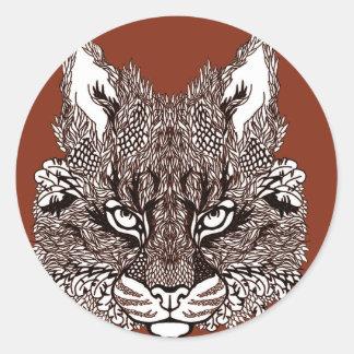 Sticker Rond Lynx