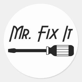Sticker Rond M. Fix It