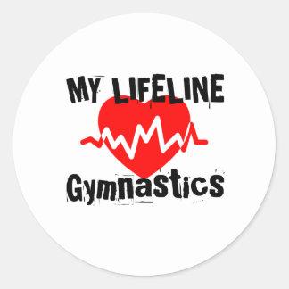 Sticker Rond Ma ligne de vie gymnastique folâtre des