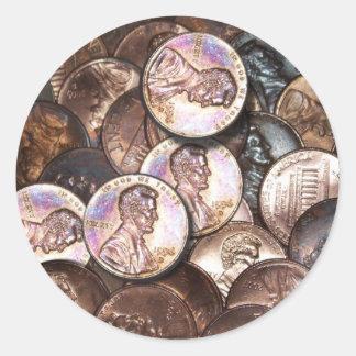 Sticker Rond Ma valeur de deux cents