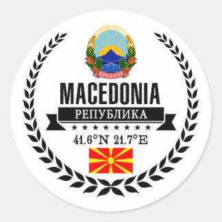 Sticker Rond Macédoine