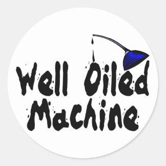 Sticker Rond Machine bien huilée