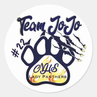 Sticker Rond Madame Panthers BBall de Northshore d'autocollant