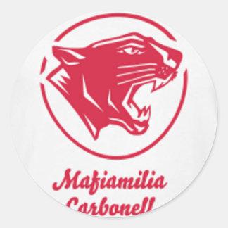Sticker Rond Mafiamilia carbonell streetwear