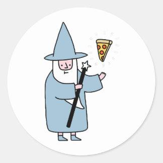 Sticker Rond Magicien de pizza - aléatoire