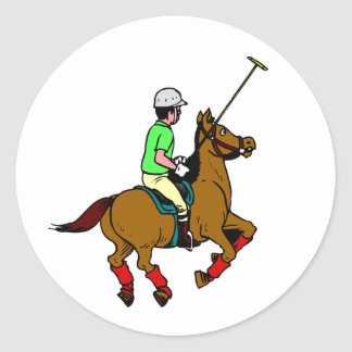 Sticker Rond Maillet d'oscillation de cheval de tour de
