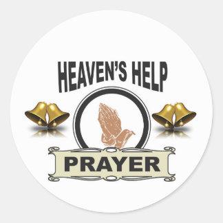 Sticker Rond mains d'aide et de prière