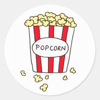 Sticker Rond Maïs éclaté de salle de cinéma d'amusement dans le