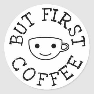 Sticker Rond Mais premier café