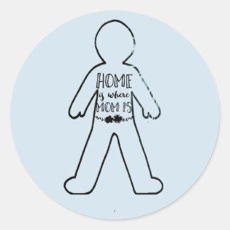 Sticker Rond Maison