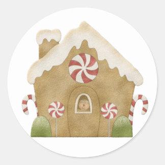 Sticker Rond Maison de pain d'épice