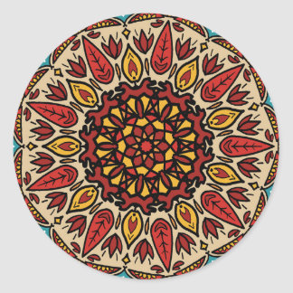 Sticker Rond Mandala de chute