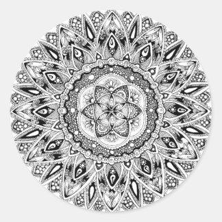 Sticker Rond Mandala de fleur avec la graine de la vie