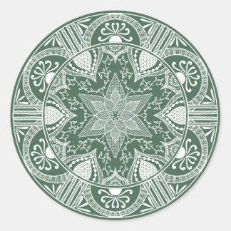Sticker Rond Mandala de forêt