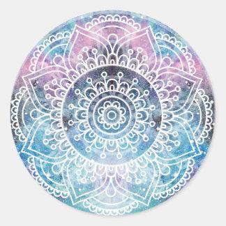 Sticker Rond Mandala de galaxie