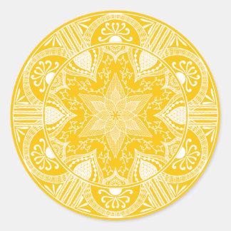 Sticker Rond Mandala de miel