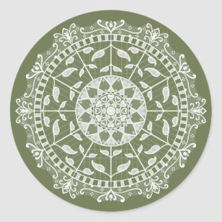Sticker Rond Mandala de mousse