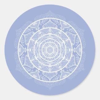 Sticker Rond Mandala de myrtille