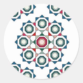 Sticker Rond Mandala de tuile