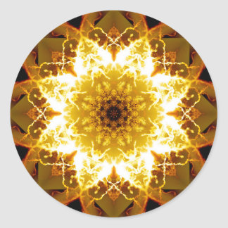 Sticker Rond Mandala d'or de Sun