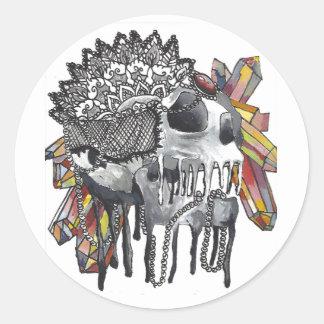 Sticker Rond Mandala en cristal de crâne