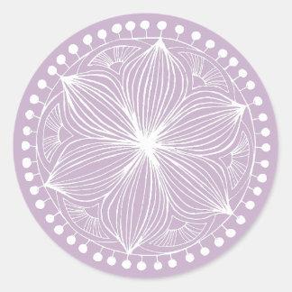 Sticker Rond Mandala mauve de Frankie