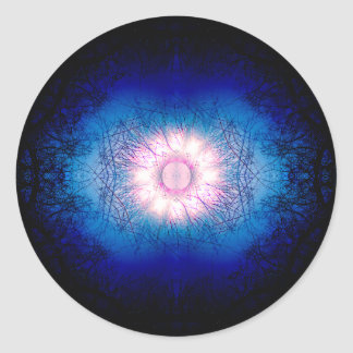 Sticker Rond Mandala rose de Sun d'hiver