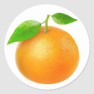 Sticker Rond Mandarine