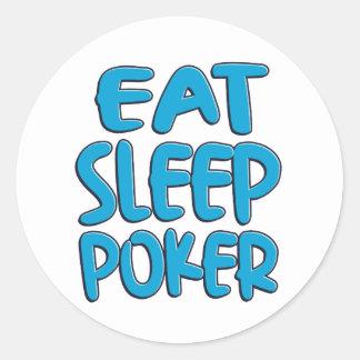 Sticker Rond Mangez le tisonnier de sommeil