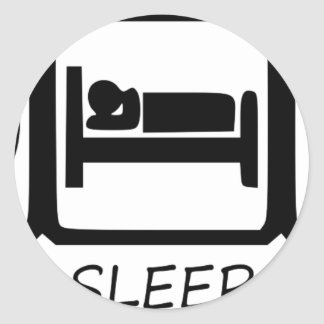 STICKER ROND MANGEZ SLEEP11