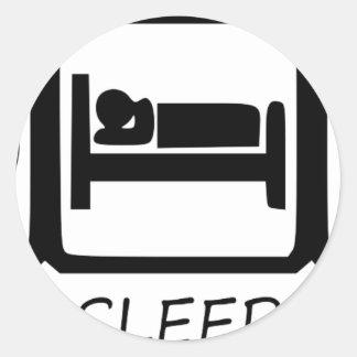 STICKER ROND MANGEZ SLEEP17