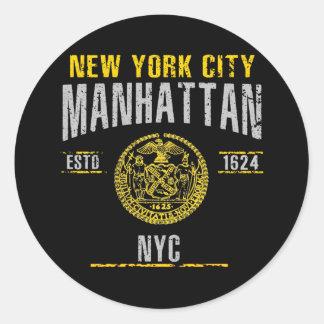 Sticker Rond Manhattan